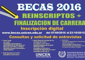 Beca Finalización de Carrera - UNICEN