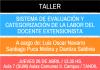 Taller sobre evaluación y categorización de la labor extensionista